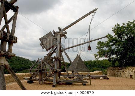 Trebuchets In Castelnaud, France