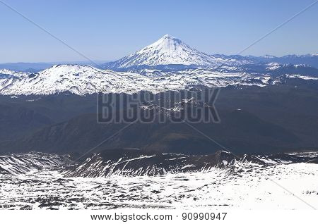 View From Villarica Volcano, Chile.