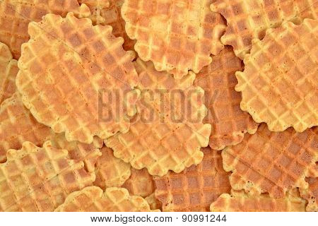 Background Of Sweet Waffles