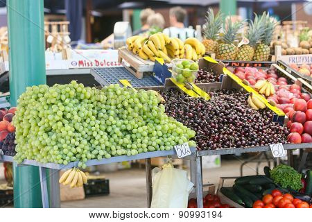 Fruit On Market Stand