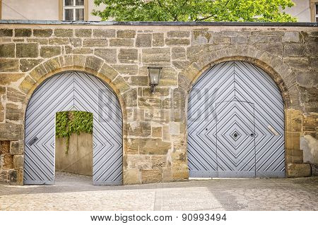 Two Gates In A Wall