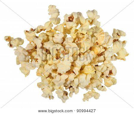 Heap Of Fresh Popcorn On A White