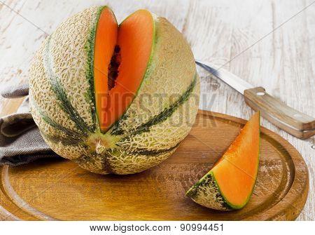 Ripe Melon. Selective Focus