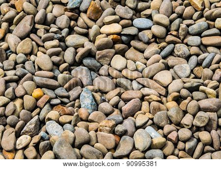 The river pebbles - background