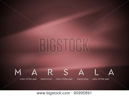 Trendy color marsala 2015. Smooth silk abstract background. Vector design