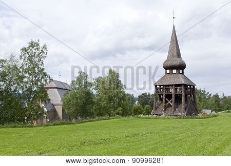 Church seen from the surrounding farmland.