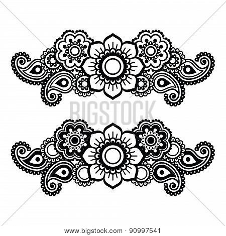 Mehndi, Indian Henna tattoo pattern or background