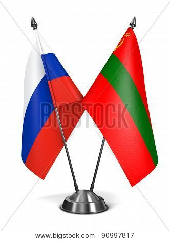 Russia and Transnistria - Miniature Flags.