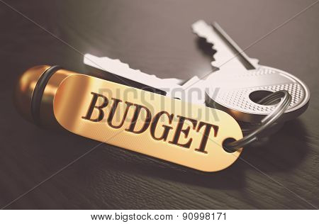 Budget written on Golden Keyring.