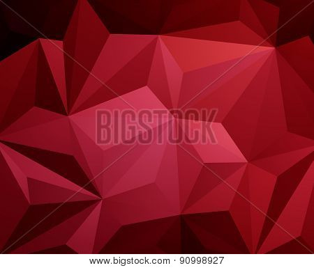 Red Triangle Abstract Background