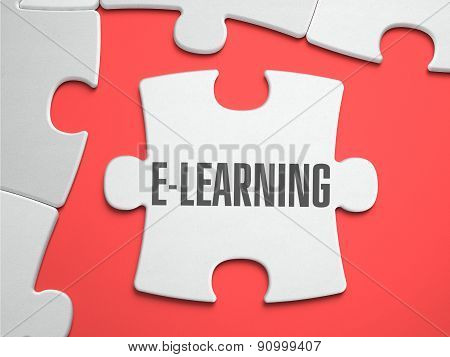 E-Learning - Puzzle on the Place of Missing Pieces.