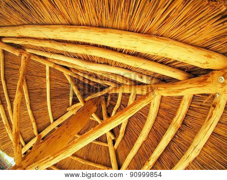 Yellow Roof Is Made Of Cane