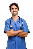 pic of male nurses  - Male nurse portrait - JPG