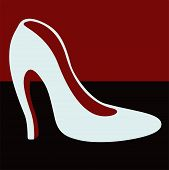picture of mary jane  - Female white shoes with heels  - JPG
