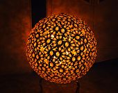 stock photo of lamp shade  - Abstract decorative lamp - JPG