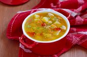 image of celery  - Chicken soup with potato - JPG