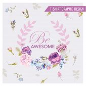pic of shabby chic  - Floral Shabby Chic Graphic Design  - JPG
