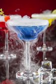 pic of vapor  - Cocktail with ice vapor on bar desk - JPG