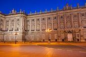 picture of royal palace  - Royal Palace at Madrid Spain  - JPG