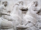 picture of parthenon  - Section of a frieze of the ancient Elgin Marbles  - JPG