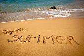 image of summer beach  - This is a photo of inscription  - JPG