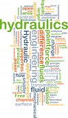 pic of hydraulics  - Background concept wordcloud illustration of hydraulics - JPG
