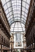 image of emanuele  - Glass dome of Galleria Vittorio Emanuele in Milan Italy