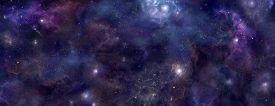 pic of outer  - Wide panel of outer space with many different stars - JPG