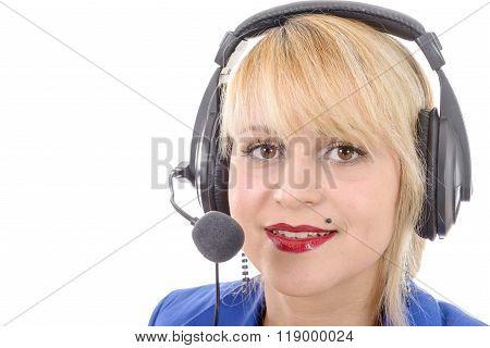 Portrait Of Happy Young Radio Host