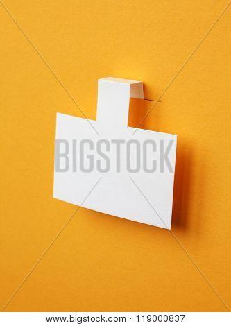 white paper sticker