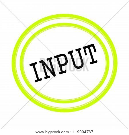 Input Black Stamp Text On White