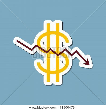 Stock Crisis With Dollar Sign