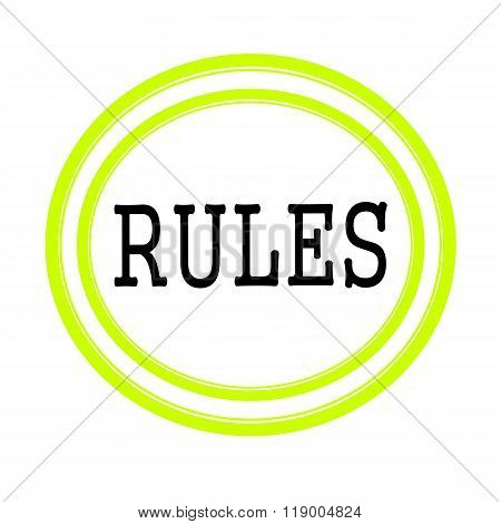 Rules Black Stamp Text On White