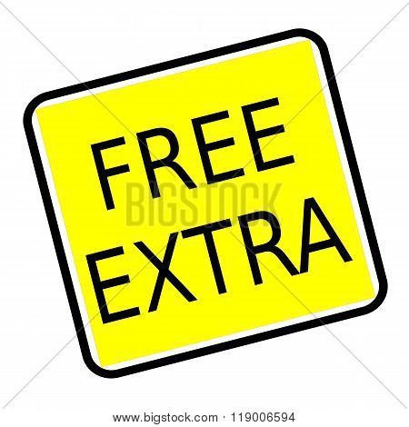 Free Extra Black Stamp Text On Yellow Background