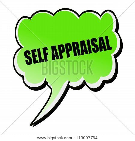 Self Appraisal Black Stamp Text On Green Speech Bubble
