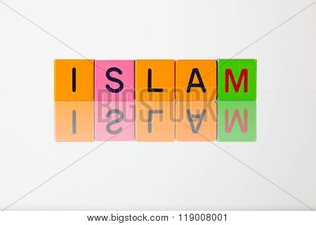 Islam - An Inscription From Children's Blocks