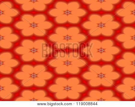 Abstract kaleidoscope symmetrical regular mirroring colorful pattern