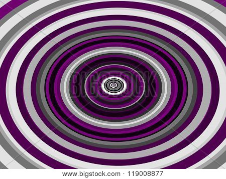 Pink black white concentric oval pattern