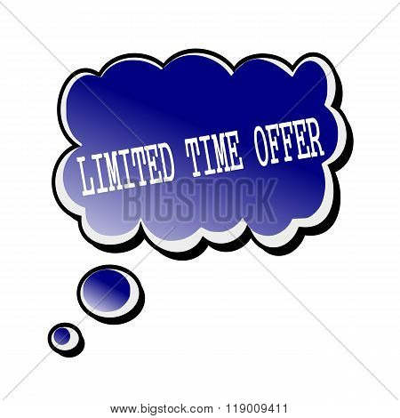 Limited Time Offer White Stamp Text On Blueblack Speech Bubble