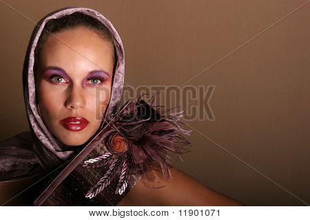 Beautiful glamorous woman model portrait