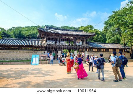 Korean Folk Village,Traditional Korean style.