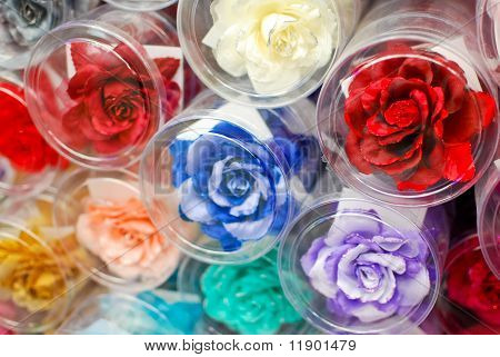 Colorful Fake Rose Flower