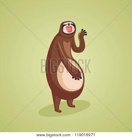 Yawing sloth