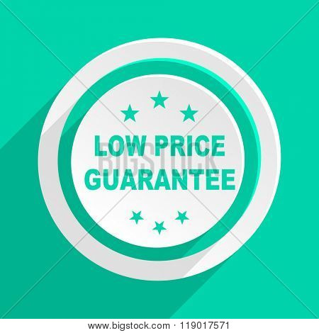 low price guarantee flat design modern web icon with shadow for internet and app