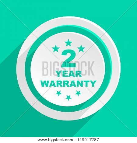warranty guarantee 2 year flat design modern web icon with shadow for internet and app