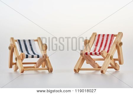 Two Isolated Deckchairs