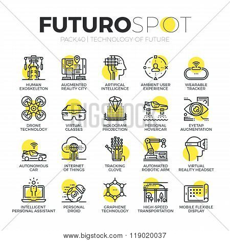 Future Technology Futuro Spot Icons