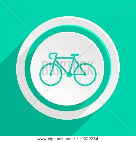 bicycle flat design modern web icon with shadow for internet and app