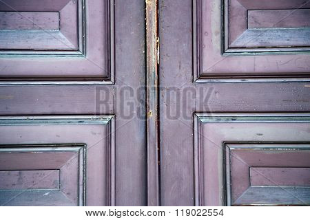 Abstract Samarate   Rusty  Br  Brown K Door Curch  Closed Wood