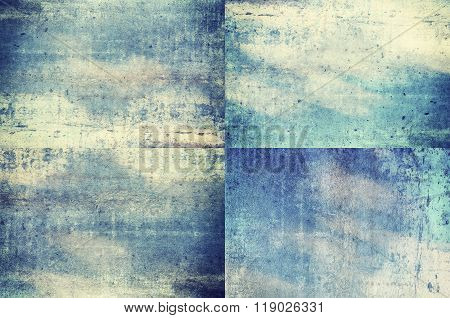 Blue Colored Grunge Texture Backgrounds
